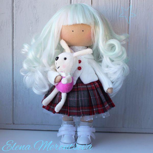 Купить Интерьерная куколка - хатсуне мику, кукла ручной работы, кукла в подарок, кукла интерьерная