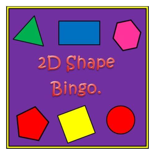 Fun FREE shape bingo game.