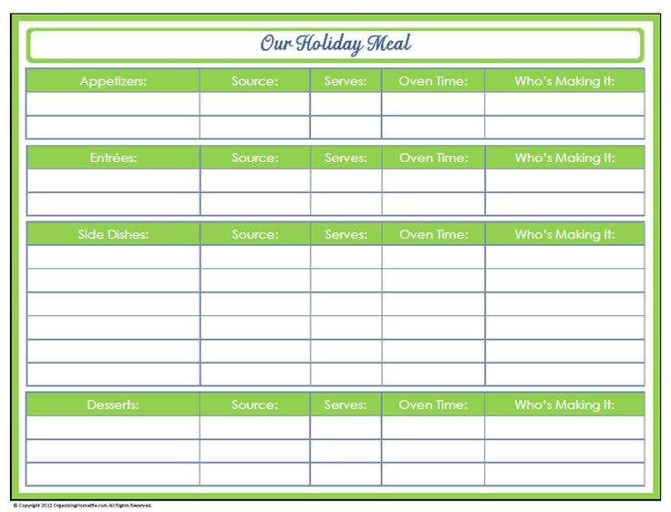 183 best Christmas Planner Printables images on Pinterest - vacation schedule template