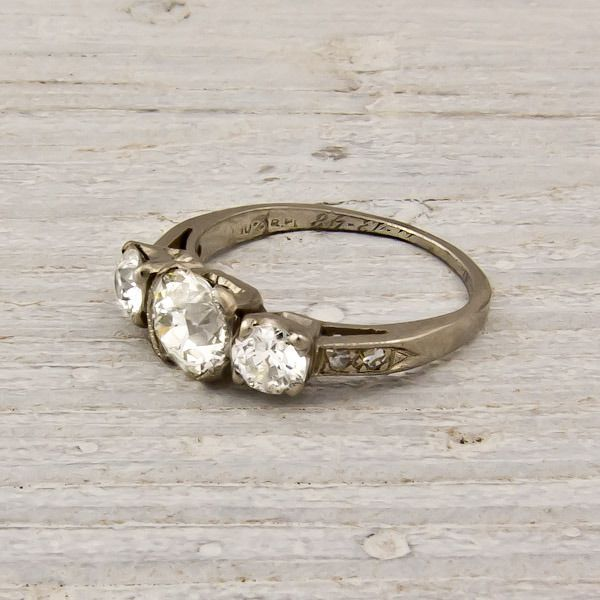 Image of .90 Old European Cut Diamond Engagement Ring, i love vintage