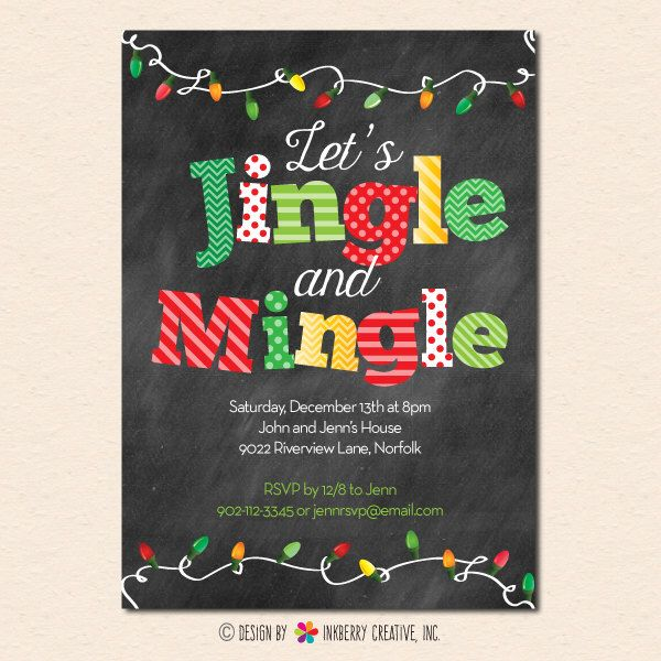 Best 25+ Christmas Party Invitations Ideas On Pinterest