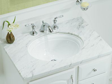 undermount bathroom sink kohler k 2336 0 devonshire 18 18