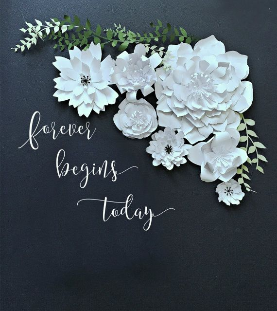 Paper Flower Backdrop. PhotoBooth. Photo Booth - PRE-ASSEMBLED Flowers. Wedding Photo Backdrop. More