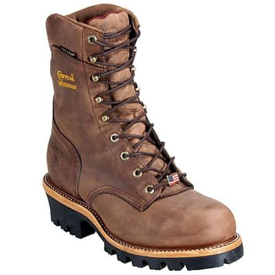 Chippewa Boots: Men's Insulated Waterproof 25405 EH Steel Toe Brown Work Boots…