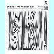 XCut 6x6inch Embossing Folder - Woodgrain