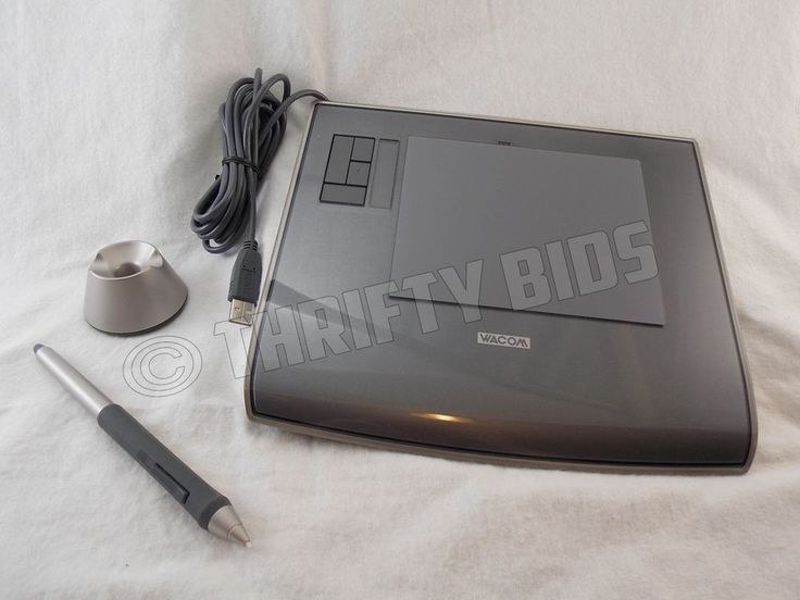 "Wacom Intuos 3 PTZ-430 Graphics Tablet Pen Stylus & Stand 4"" X 5"" Drawing Area  #Wacom"