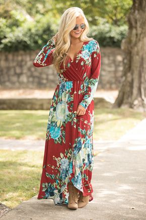 A Breathtaking Beauty Floral Maxi Dress