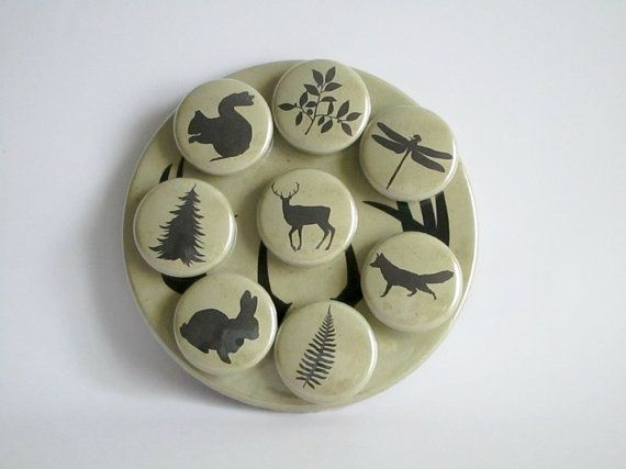 Woodland Magnets  Rustic Refrigerator Magnets by GoldenDaysDesigns