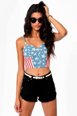Capture the flag American Flag Bustier Top! #Lulus $38