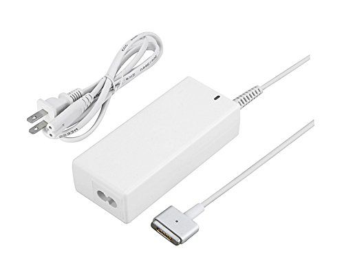 """MacBook Air Charger Singo 45W MagSafe 2 Power Adapter Replacement for MacBook Air 11.6"""" & 13.3""""(Compatible with Macbook A1436 A1465 A1466 A1435 Mid2012 Late )  Warranty: Singo's Lifetime warranty  Only 20% Price of the Original, Providing More Perfect Quality ,Magnetic connection to computer breaks cleanly when tripped over to prevent accidents  Note:This is the second generation of magsafe power adapter, Compatible to MacBook Air 11.6'' & 13.3"""" from jun 2012, 2013, Early 2014, 2015,su..."""