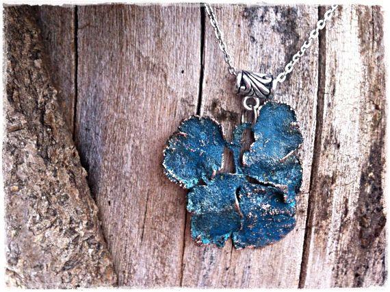 Blue Pendant Blue necklace Colorful necklace Galvanic