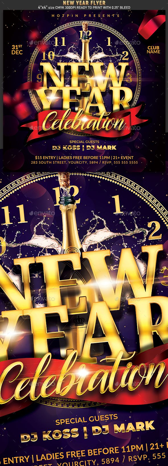 New Years Eve Flyer newyear party partyflyer nye