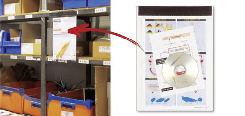 Magnetische Sichttafel mit der Öffnung oben und mit extrabreitem Magnetband zur Befestigung mit 700 g Tragkraft!