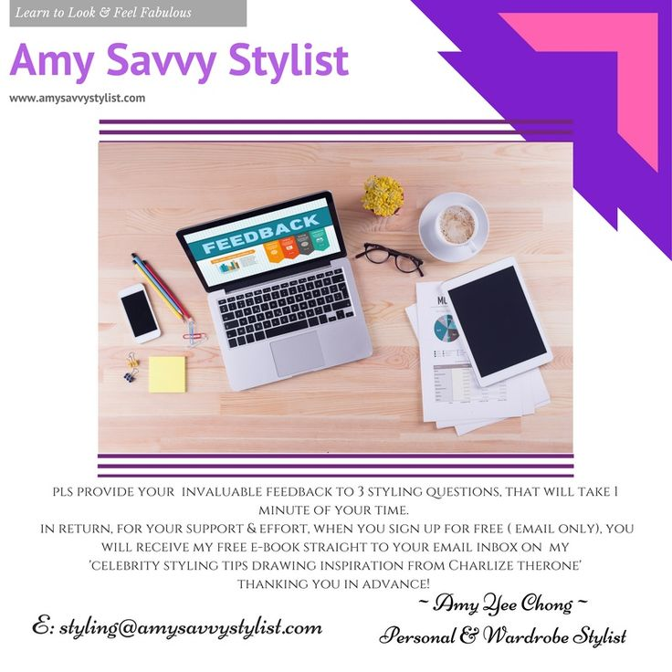 Once you have answered the 3 STYLING QUESTIONS, pls click head over to my website www.amysavvystylist.com and click on the HOME page button, this will take you to my SIGN UP for FREE page to receive your FREE Celebrity Styling e-Book-inspired by Charlize Theron  #personalstylist #imageconsulting #wardrobestyling #amysavvystylist