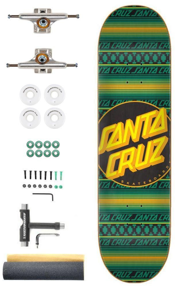 Santa Cruz Serape Dot X Independent Pro Custom Complete Skateboard 8 125 In 2020 Complete Skateboards Cool Skateboards Skateboard Shop