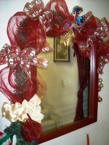espejos decorados para navidad - Buscar con Google