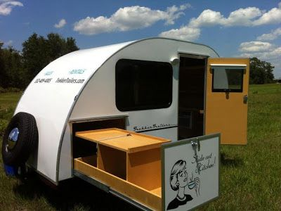 small camping trailers for sale | Tiny Yellow Teardrop: Featured Teardrop: Trekker Trailers