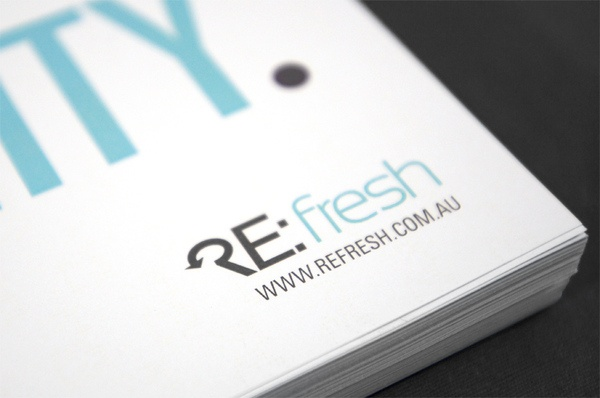 smart logo - Re:fresh    see more - http://www.behance.net/gallery/Refresh/2378702