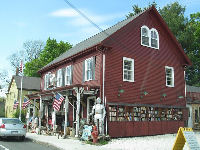 """Yet another town that bears the distinction of being """"America's Antique Capital,"""" Essex offers a diverse array of dealers — from high-end (David Neligan Antiques) to the more down-to-earth (shown here, The White Elephant Shop, which boasts an outlet store on the second story).  Photo via Flickr"""