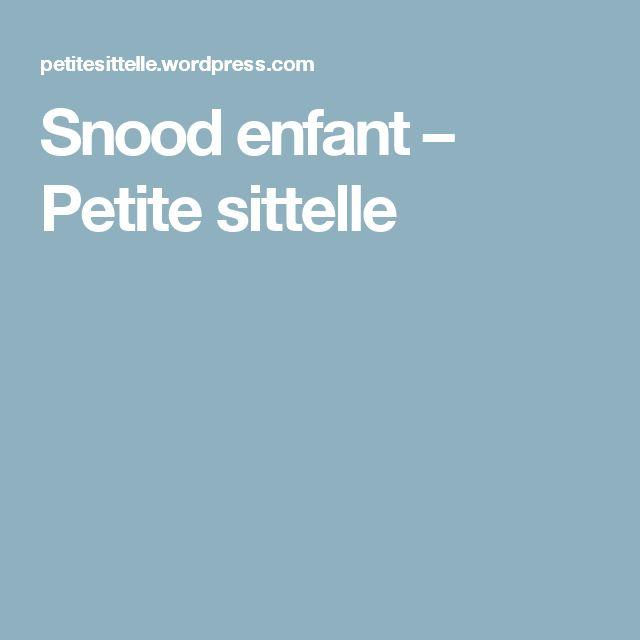Snood enfant – Petite sittelle