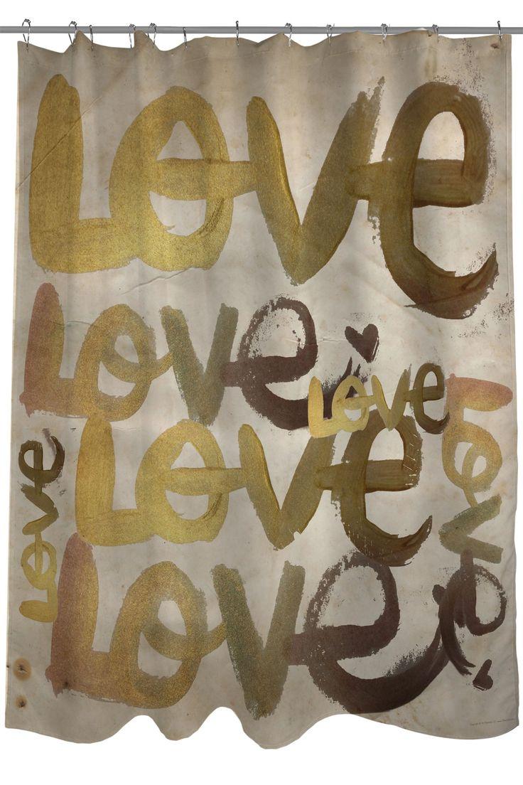 Four Letter Word Shower Curtain - Gold/Multi on @HauteLook