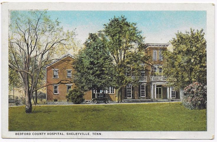 Old Postcard  Cars at The Bedford County Hospital  Shelbyville Tennessee   (676)