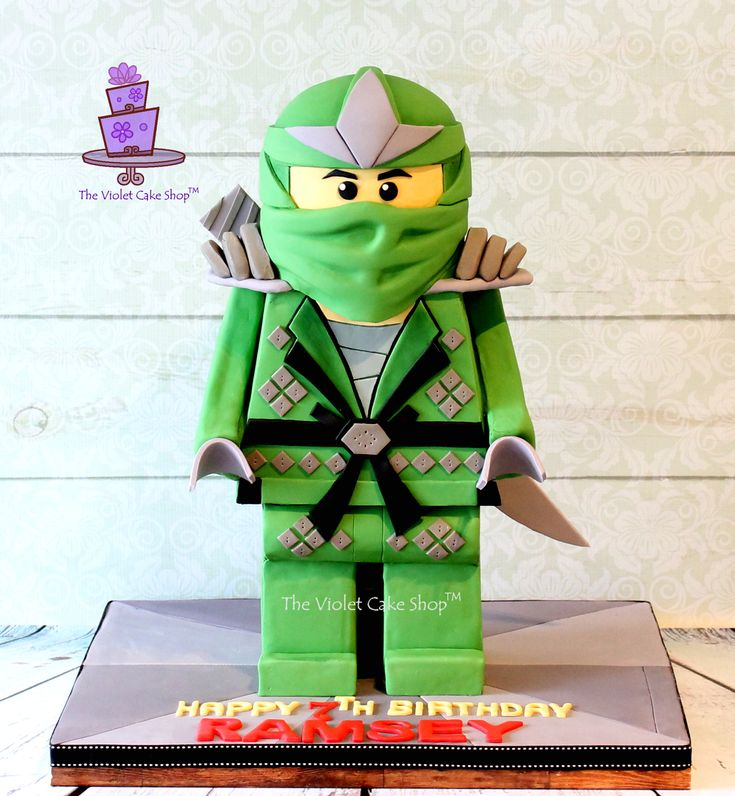 Ramsey's 7th Birthday Green Ninja from Lego Ninjao - front ii - twm TVCS