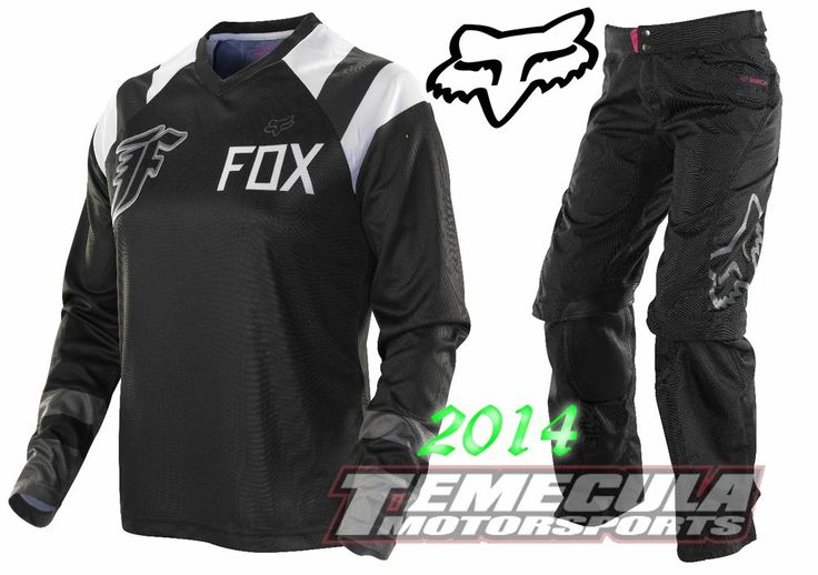 2014 FOX RACING WOMENS SWITCH Jersey Pant MX Motocross ATV Gear Combo BLK/WHITE