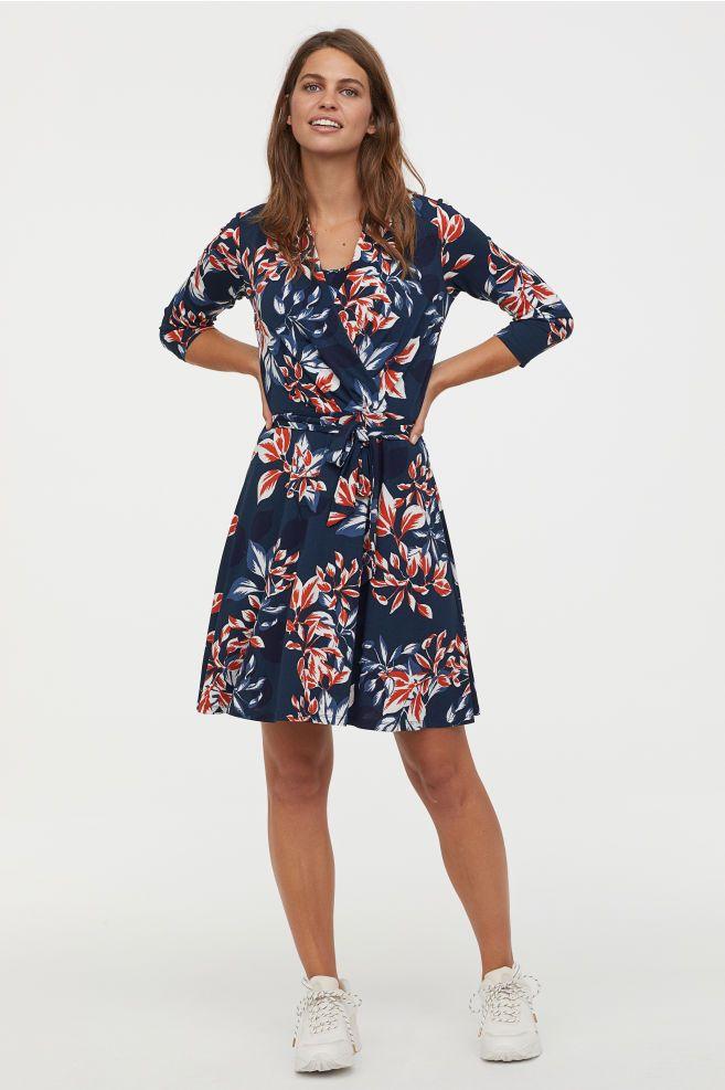 ecb5cb09928 MAMA Nursing Dress - Dark blue floral - Ladies