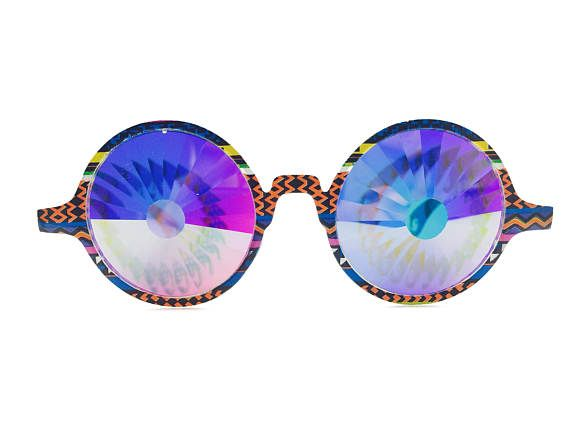 Tribal Rainbow Portal Kaleidoscope Glasses | burning man rave accessories electric forest festival clothes festival accessories
