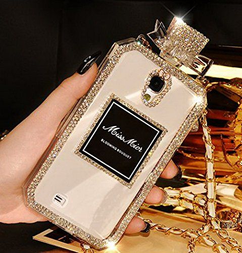 awesome Luxury Phone Cases Bling Crystal Diamond Perfume Bottle tyle TPU Case Cover for Samsung Galaxy S5 (Crystal Clear)