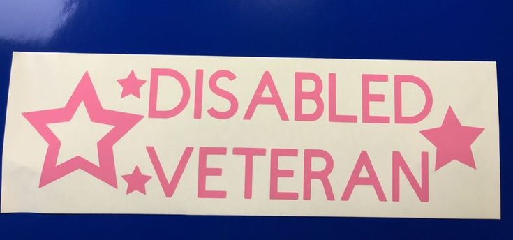 Disabled Veteran Stars Pink Vinyl Decal Sticker Window Car Electronics   eBay Motors, Parts & Accessories, Car & Truck Parts   eBay!