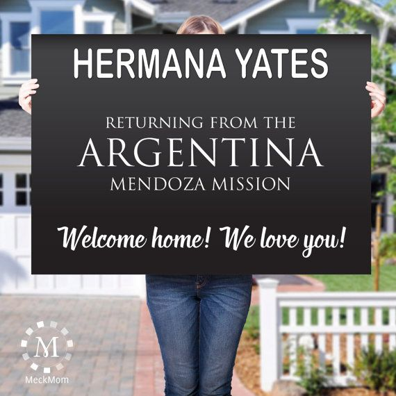 DIGITAL FILE LDS Missionary Welcome Home Poster by MeckMom