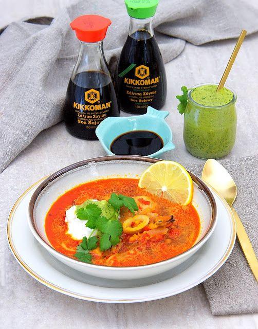 szczypta smaQ: Zupa rybna z sosem Mojo Verde Canario