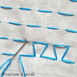 japanese darning stitch | Sarah's Hand Embroidery Tutorials