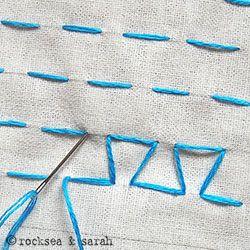 japanese darning stitch | Sarah's Hand Embroidery Tutorials
