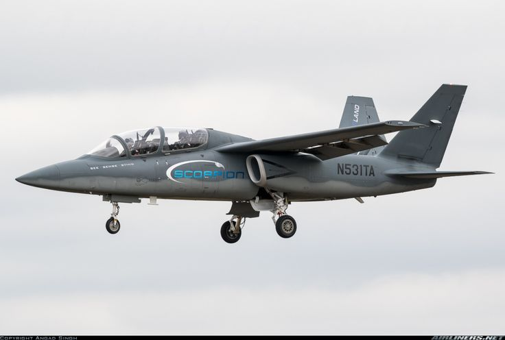 A neat little plane in search of a buyer - Textron/Cessna Scorpion prototype ISR/strike aircraft coming in to land at RIAT 2015
