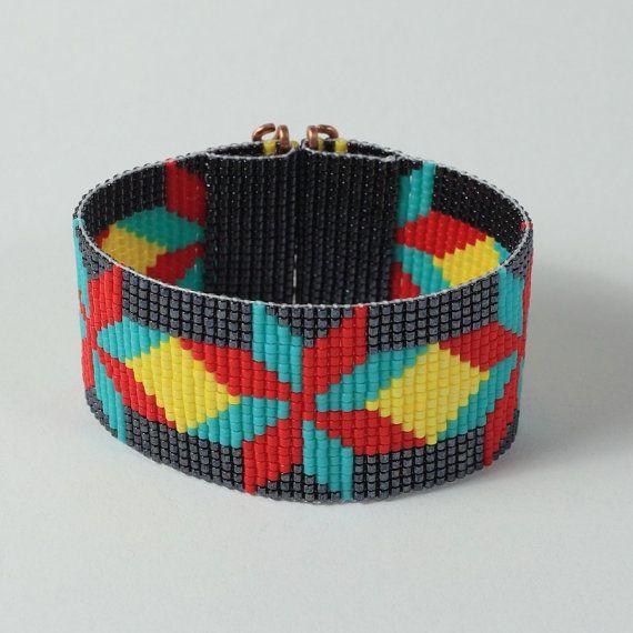 Native American Dakota Star Bead Loom Bracelet by PuebloAndCo, $17.99