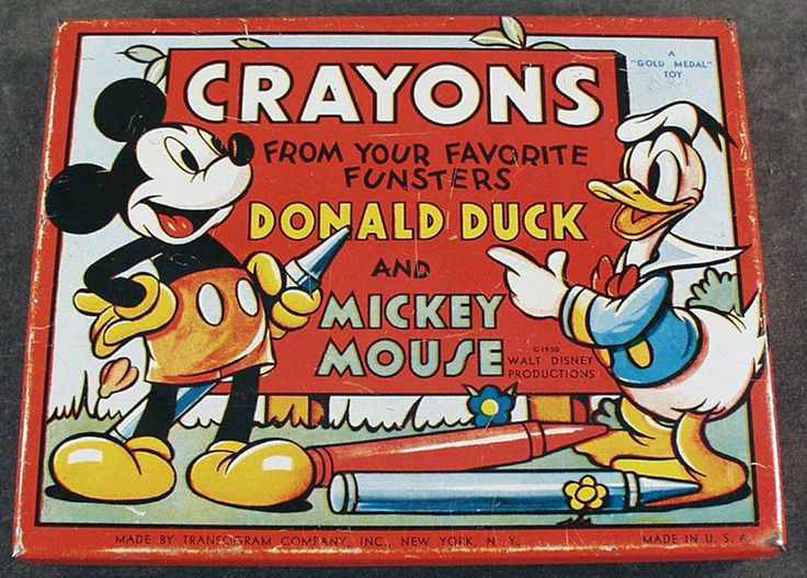 donald duck crayons eBay
