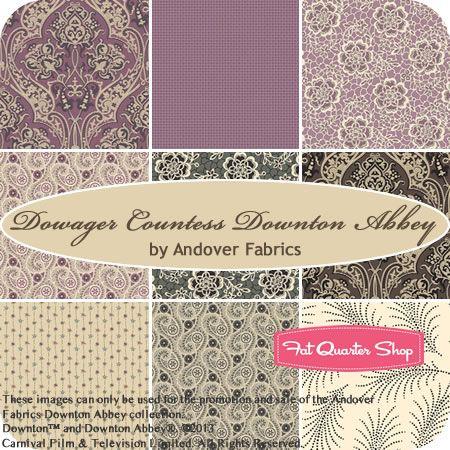 Dowager Countess Downton Abbey Fat Quarter Bundle Andover Fabrics - Fat Quarter Shop.......  UBER SQUEEEEEEEE!!!!