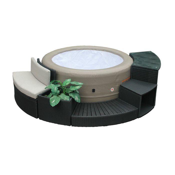 Canadian Spa Co Round Spa Surround Furniture 5 Piece Set U0026 Reviews |  Wayfair · Portable SpaPortable Hot Tub ...
