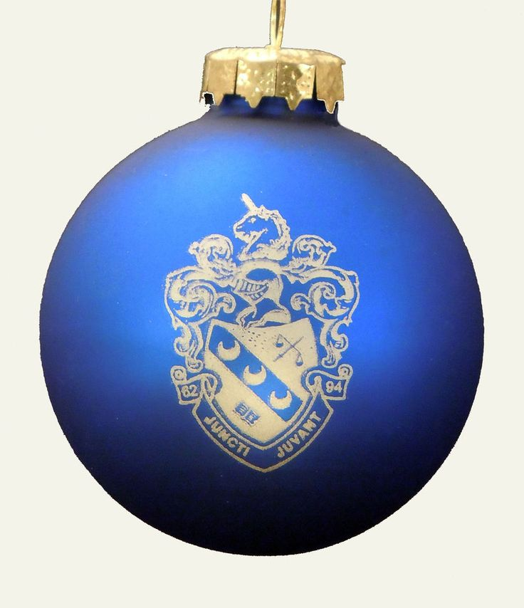 Theta Xi, ΘΞ, Crest Holiday Ball Ornament by McCarthey NEW #McCartney
