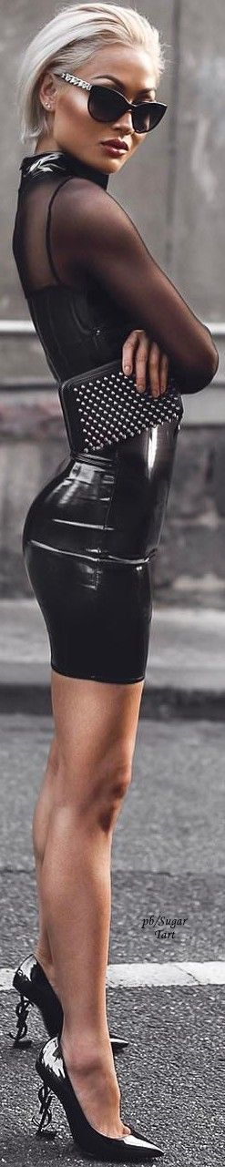 Agatha O l latex skirt