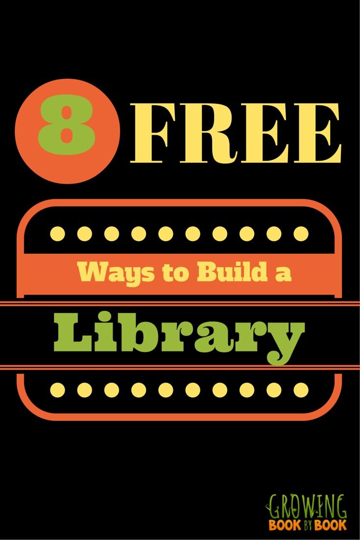 Would you like to build your child's library? Here are 8 FREE ways to get books for kids!