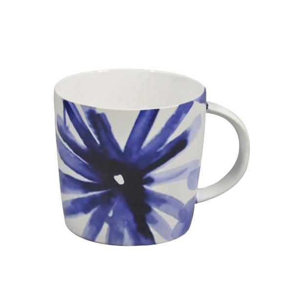Blue Flower Mug Set (4pc)
