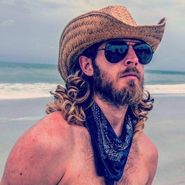 he story never ends. #strength #wonder #beach #cowboy #ponyboy #beard #scruff #hippie #longhair #fitness #trying #rugged #natural #blue
