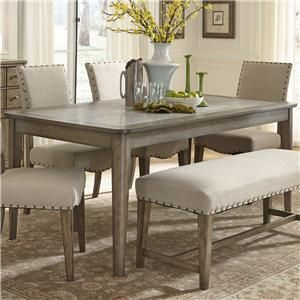 Weatherford Rustic Casual Rectangular Leg Table With Concrete Insert By Vendor 5349 At Becker Furniture World