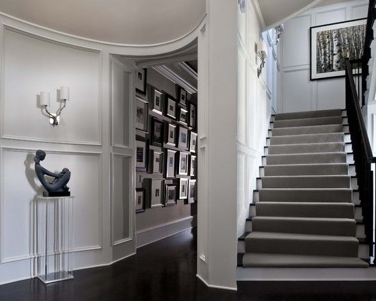 Like The Grey Carpet With The White And Dark Wood Stair