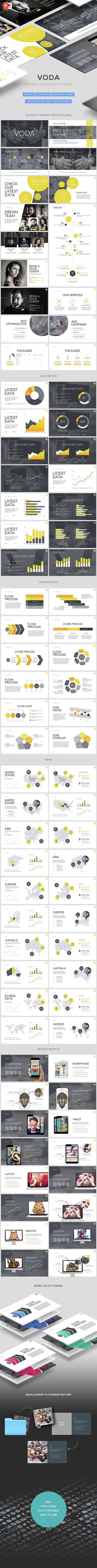Voda - Creative Powerpoint Template (PowerPoint Templates):