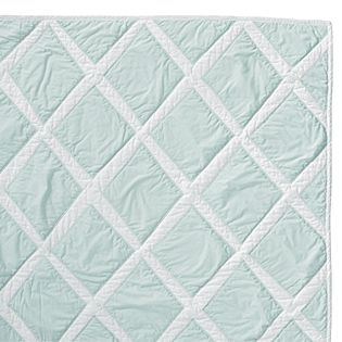Aqua Diamond Quilt & Euro Sham & Standard Sham by Serena & Lily